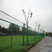 旺来三角折弯型护栏网 护栏网专业生产 花坛栅栏