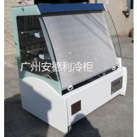 厂家直销 广州安德利立式三文治展示柜 保鲜柜 拉帘式展示柜
