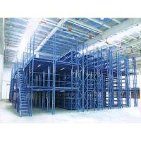 阁楼式货架搭建钢平台汽车4S店配件库货架济南德嘉生产带楼梯仓库架