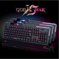 大量批发 黑爵战神X5三色背光游戏键盘 网吧推介 USB有线发光键盘