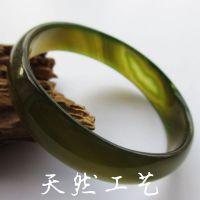 批发供应天然工艺绿色玛瑙手镯