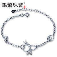 银龙珠宝厂家直销s925纯银女士饰品如意葫芦韩版手链手饰首饰批发