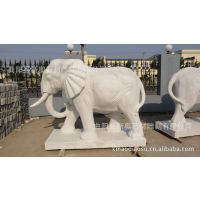 石雕大象厂家,汉白玉大理石大象雕塑