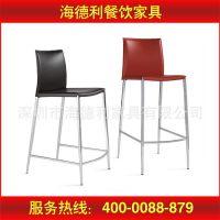 【爆款】厂家特价促销 不锈钢软包 酒吧 户外甜品店美式餐椅