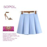 新款欧美流行风空气层小打褶半身蓬蓬裙俏皮小短裙半裙
