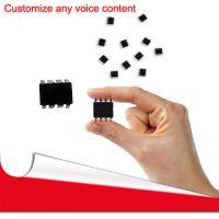 专业定制 语音芯片 语音IC 3-5V一线串口控制225段语音地址16级音量控制