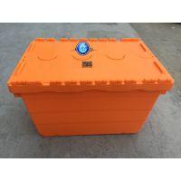 青岛LRH斜插式物流箱药品超市周转用物流箱,空箱时节省80%体积的塑料箱周转箱