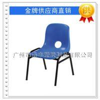 厂家直销 加厚塑料铁脚靠背童椅 幼儿园大中小班椅子 塑胶学生椅