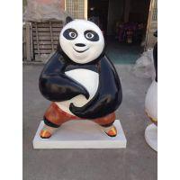 新品影视动漫卡通功夫熊猫玻璃钢模型展览道具租售适用于商场广场