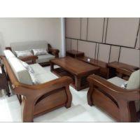 美希恩原木实木沙发 金丝檀木沙发中式客厅家具实木布艺沙发组合
