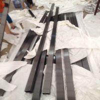 亮光304黑钛金不锈钢方管25*25*1.5不锈钢黑钛金管