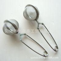 (小额批发)不锈钢茶球茶隔茶叶夹 滤茶器  茶漏 11
