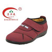 老北京棉鞋,京洪森正品聚氨底保暖透气平底低帮时尚老妈妈休闲女靴2001
