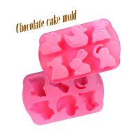 DIY厨房小工具  6连卡通动物 硅胶蛋糕模具 巧克力模 点心模具