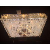 水晶灯批发 LED吸顶灯现代卧室客厅餐厅灯具 LED方形平板低压灯