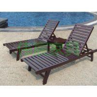 供应实木沙滩椅、木制躺椅、户外躺床