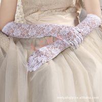2015爆款婚庆手套礼仪手套晚礼服手套长款蕾丝全指新娘手套