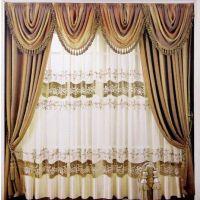 通州区定做家居别墅高档布艺窗帘便宜电动窗帘电动遮光窗帘