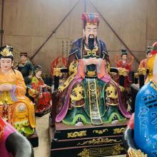 河南云峰佛像雕塑厂专业定做 三官大帝 彩绘1.8米紫薇大帝玻璃刚彩绘神像佛像