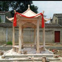建宾雕塑直销石雕亭子 大理石凉亭雕刻安装过程