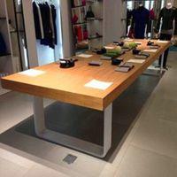 厂家直销咖啡馆餐厅桌椅实木家具原木复古铁艺餐桌椅书桌会议桌