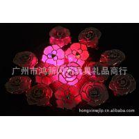 厂家供应韩版发光头花   七彩闪光玫瑰发夹   发光发夹头饰