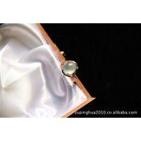 魅力翡翠~女款戒指 玻璃种翡翠 真钻 玫瑰金镶嵌