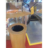 惠州风景区户外木纹不锈钢指示牌定做 304商场木纹不锈钢垃圾桶