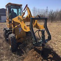 得力螺旋地桩机 树木挖坑机 山东挖坑机