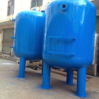 湛蓝纯碳钢衬胶环氧机械过滤器Ф3000×4600×10.0 大流量100T/H水处理设备
