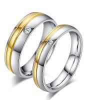 欧美外贸钛钢情侣戒指 个性简约风格情侣指环 钛钢饰品批发速卖通