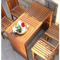 弗利托实木高级酒吧露天户外家具桌椅 酒吧桌椅