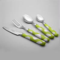 塑料柄餐具24件套 刀叉匙套装乐诚餐具