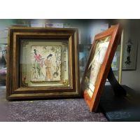 陕西仿古壁画桌摆镜框装旅游纪念礼品 陕西特色会议纪念品《唐仕女图》
