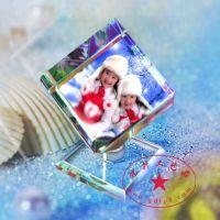 宝宝周年水晶影像,结婚周年纪念品,湖北个性定制水晶摆件 铭升工艺