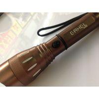 批发强光LED手电筒 铝合金防水远射  锂电池充电