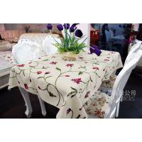 年末清仓,手工绣花,鲁绣,餐桌布台布,棉麻桌布,多尺寸可选