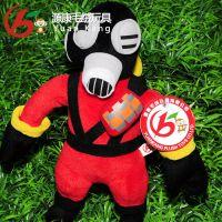 厂家专业定制 毛绒填充玩具 穿衣娃娃 潜水公仔 游泳玩具