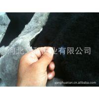 澳洲国产短毛长毛黑色绵羊皮