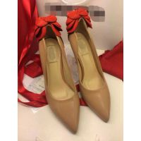 anglebaby同款华伦家奢华尖头玫瑰花高跟羊皮细高跟鞋女式婚鞋
