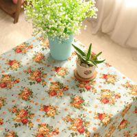 田园宜家 玫瑰园 棉麻桌布 艺餐桌布 外贸茶几布盖台布桌垫 两色