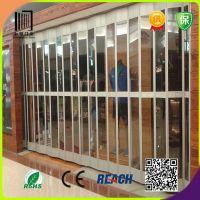 直供侧向铝合金长条水晶门 铝合金折叠式水晶门 推拉式水晶折叠门
