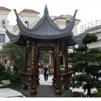 设计仿古式古建筑翘脚六角亭,中式防腐木六角亭