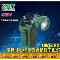 IW5120便携式免维护强光防爆工作灯-正安防爆