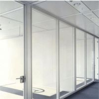 办公隔断 隐框玻璃高间隔 玻璃隔断