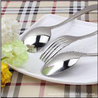 出口 外销 欧美餐厅 加厚5cm 不锈钢 餐具 叉 尖勺 圆勺酒店用品