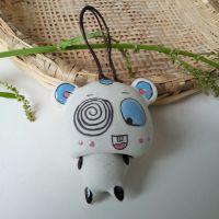 景德镇纯手绘陶瓷两节小熊风铃挂饰车内饰品 陶瓷风铃批发