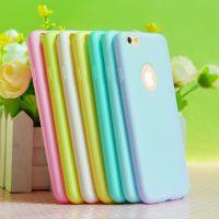tpu苹果6手机壳 糖果色系iPhone6保护外壳 微店加盟 一件代发批发