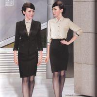 定做2015新款各种女职业套装弘捷国际定做办公白领职业装