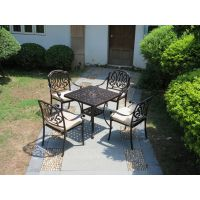 大理石户外家具户外桌椅休闲藤椅酒吧桌椅铸铝桌椅 阳台桌椅圆桌